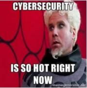 Cybersecurity is so hot right now - Meme